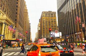 NYの街中はどこをとっても映画のワンシーンの様
